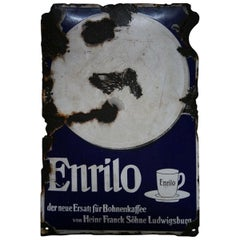 "1930s Advertising Signboard ""Coffee Enrilo"""