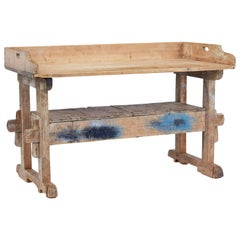 19th Century Rustic Pine Work Table