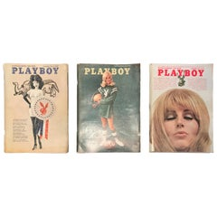 Three 1960s Playboy Magazines 1967, 1968 and 1969 Man Cave Decor!