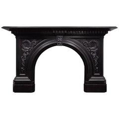 Black Marble Victorian Mantelpiece