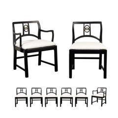 Chic Set of 12 Dining Chairs by Michael Taylor for Baker Furniture, circa 1960