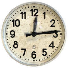 Industrial Factory Wall Clock From Chronotechna, 1950s