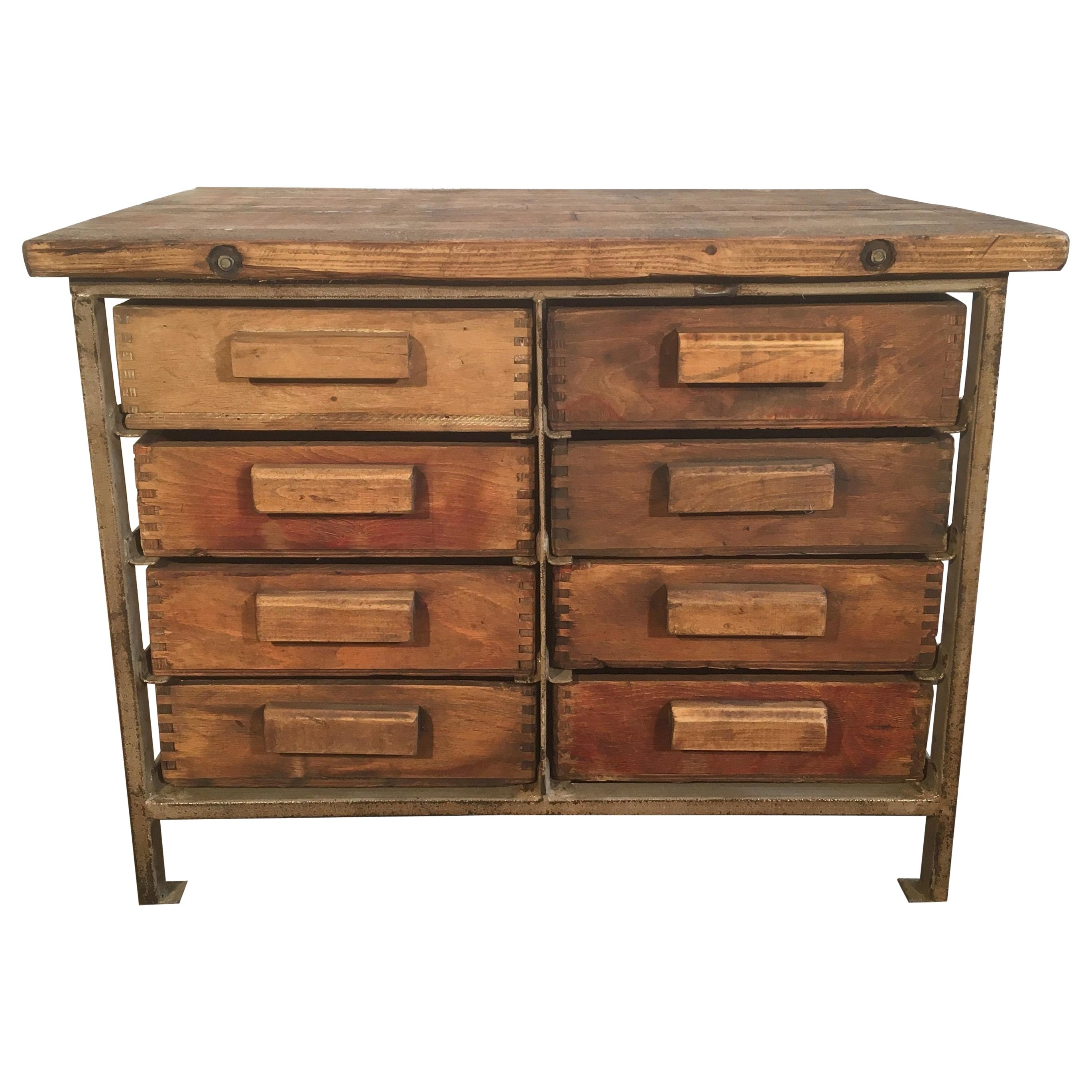 Vintage Industrial Chest Of Drawers, 1950s For Sale