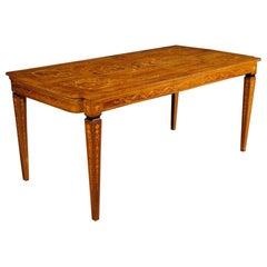 20th Century Inlaid Wood Italian Louis XVI Style Dining Table, 1960