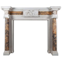 Antique Sienna Marble Mantelpiece