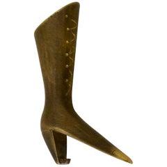 "Rare Bottle Opener ""Ladies Boot"" by Carl Auböck"