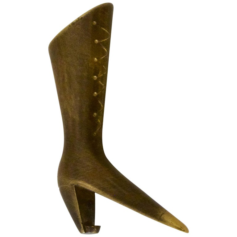 """Rare Bottle Opener """"Ladies Boot"""" by Carl Auböck For Sale"""