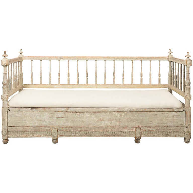Gustavian Painted Sofa, circa 1790s For Sale