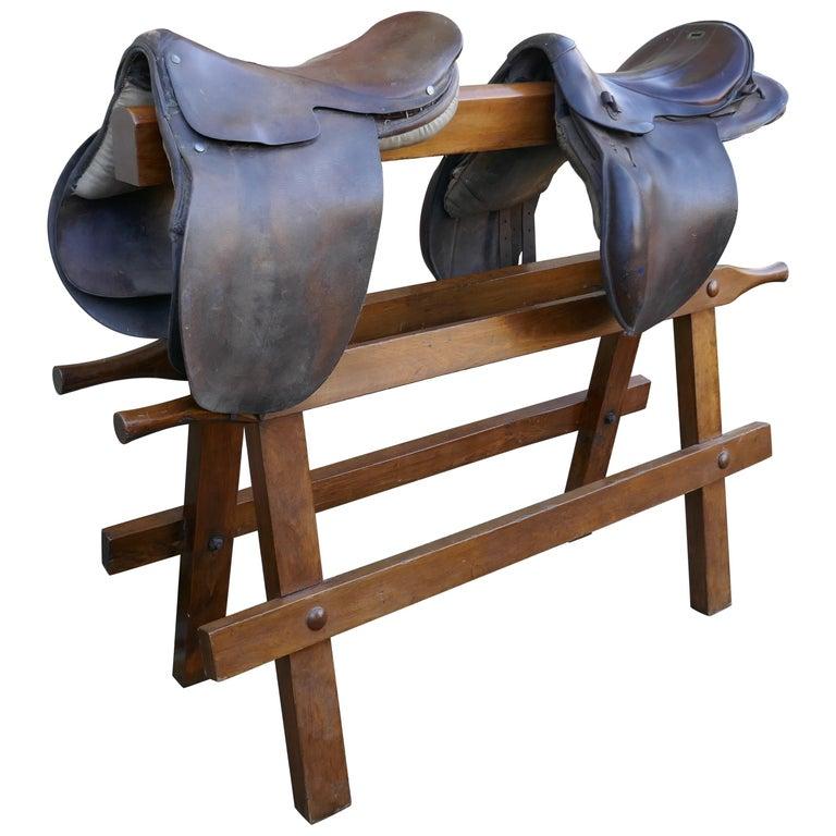 Heavy 19th Century Saddle Rack