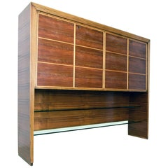 Large Cabinet by Mobili Saragoni, Milano, Style of Gio Ponti, 1930s-1940s