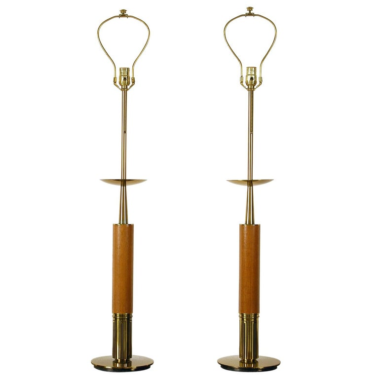 Large Pair Of American Midcentury Table Lamps The Stiffel Lamp