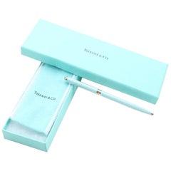 Vintage Tiffany Sterling Silver Blue Dia, Enamel Ballpoint Pen