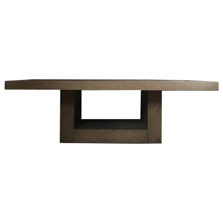 Italy 21st Century Coffee Table in Grey Oakwood,  Rectangular For Sale
