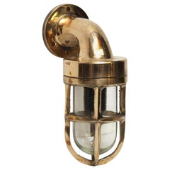 Small Brass Ship Light Sconce