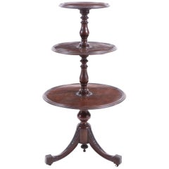 Antique Mahogany Dumbwaiter Dessert Table-Serving in Style