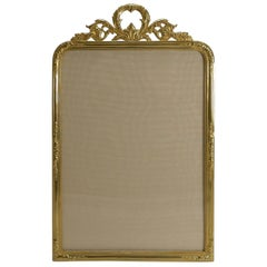 Large Antique French Gilded Bronze Photograph Frame, circa 1900