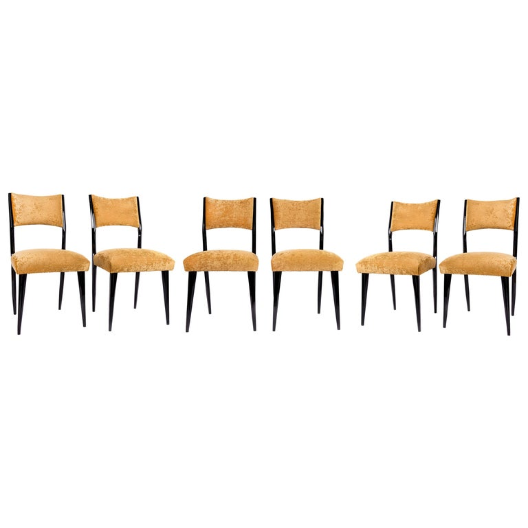 Set of 6 Midcentury Dining Chairs For Sale