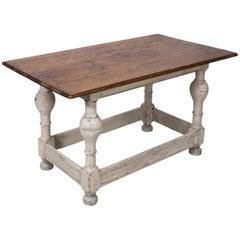 Painted Swedish Pinewood Table