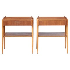 Pair of Teak Bedside Tables by AB Carlstron