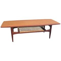 Danish Modern Two-Tier Teak Coffee Table Attributed to Hans Wegner by Moreddi