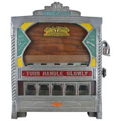1930s Fields Rare Five Jacks Penny Drop Gambling Machine Trade Stimulator