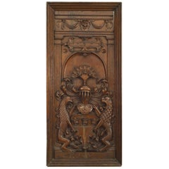Italian Renaissance Style Coat of Arms Wall Carvings