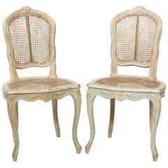 Pair of Louis XV Cane Back Side Chairs