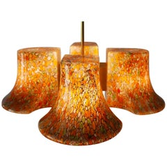 Rare Midcentury Pendant Lamp or Chandelier by Peill & Putzler, 1970s, Germany