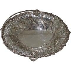 20th Century George V Sterling Silver Cake Basket London 1917 Crichton