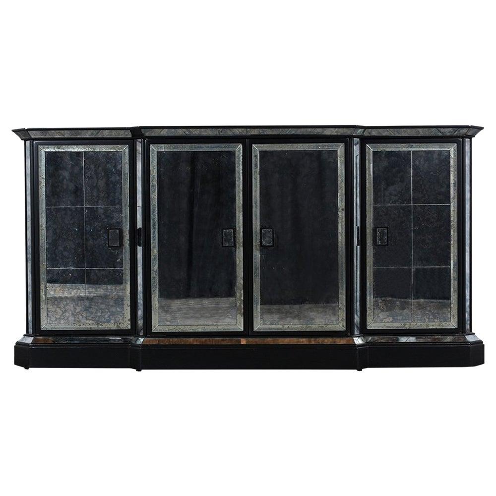 1970s Mirrored Regency Style Sideboard