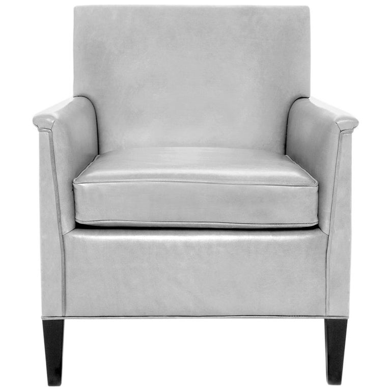 Herbert Upholstered Chair In Leather Vica Designed By Annabelle Selldorf For Sale At 1stdibs