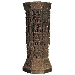 Antique India Naga Pedestal Carved Primitive Figures