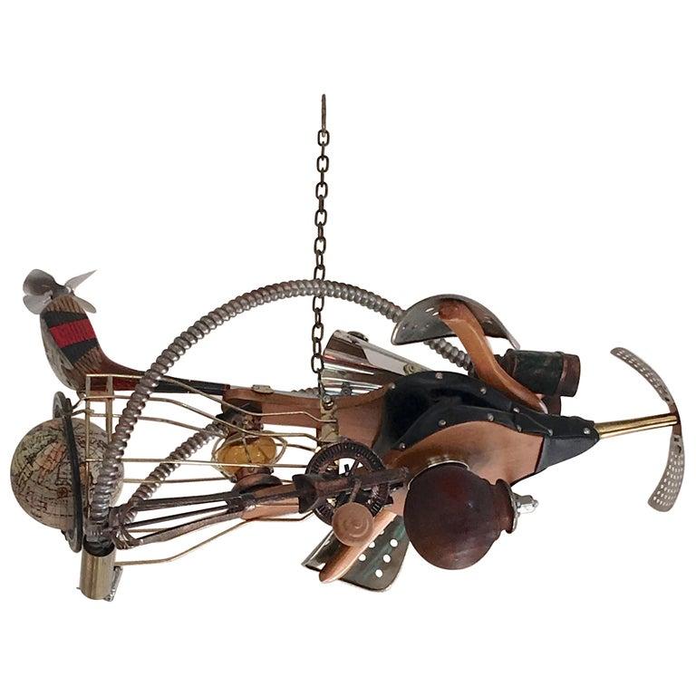 Vintage Steampunk Kinetic Fantasy Flying Machine For Sale