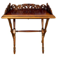 Victorian Style Ornate Carved Folding Table, circa 1920s