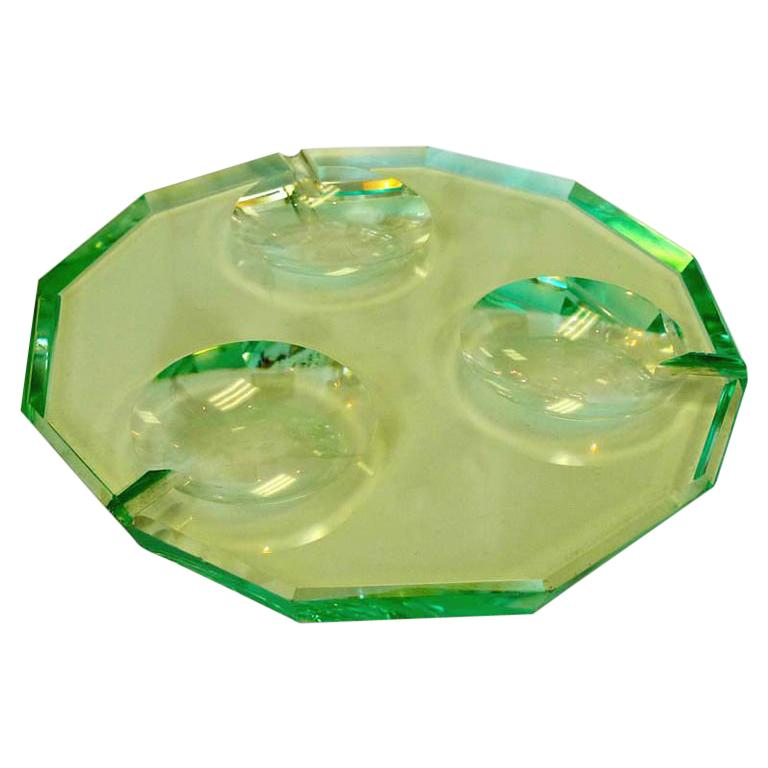 Pietro Chiesa for Fontana Arte Twelve Sided Crystal Ashtray For Sale
