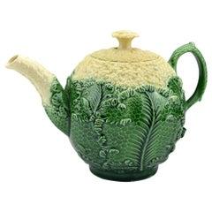 18th Century Staffordshire Pottery Cauliflower Ware Teapot