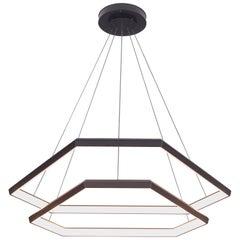 Ditri Cascade DXC43, Hexagon Modern Chandelier Light Fixture