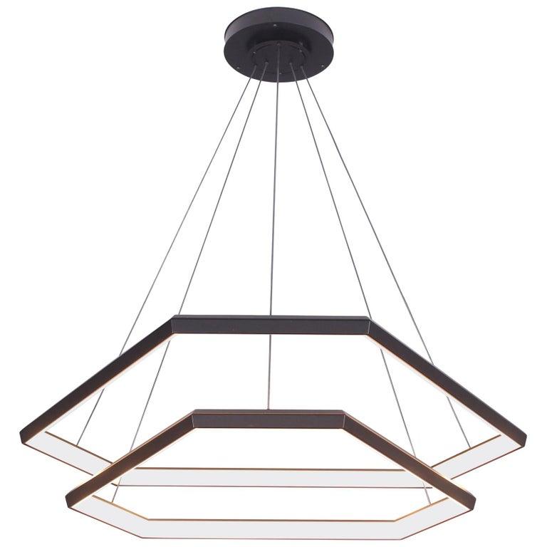 Ditri Cascade Dxc43 Hexagon Modern Chandelier Light Fixture For