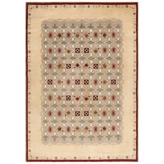 Antique French Art Deco Leleu Rug