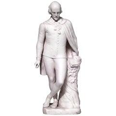 English Victorian Porcelain Figure of William Shakespeare