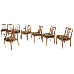 Set of Eight Midcentury Dining Chairs