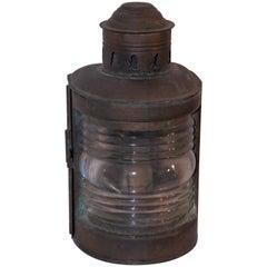 19th Century Marine Light Patinaed Copper