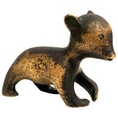 Hagenauer Modernist Austrian Bronze Sculpture Baby Bear Art Deco Signed Rare