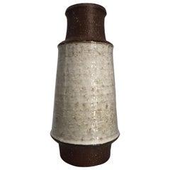 Michael Andersen Rustic Danish Modern Handmade Grey Ceramic Vase, 1960s