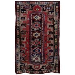 Caucasian Kazak Rug, circa 1910s