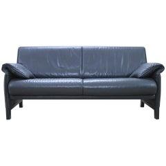 De Sede DS 14 Black Leather Sofa