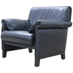 De Sede DS 14 Black Leather Armchair