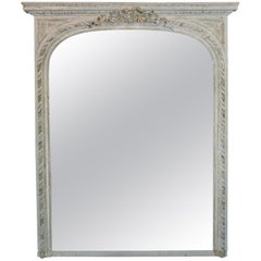 19th Century French over Mantel Mirror