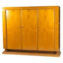 Francisque Chaleyssin Art Deco Cabinet in Sycamore Veneer, circa 194