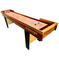 Vintage Shuffleboard Bowling Table